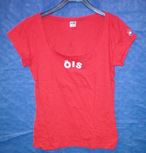 T-shirt röd dammodell