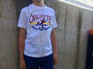 T-shirt, vit i retromodell (Barn)
