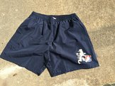 Badshorts - Mörkblå med emblem
