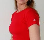 T-shirt dam röd 1887